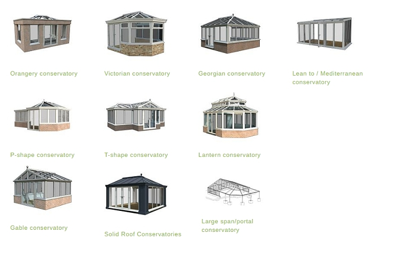 Trade conservatory types Ipswich and Colchester