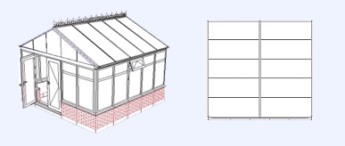 gable end  conservatory layout ipswich