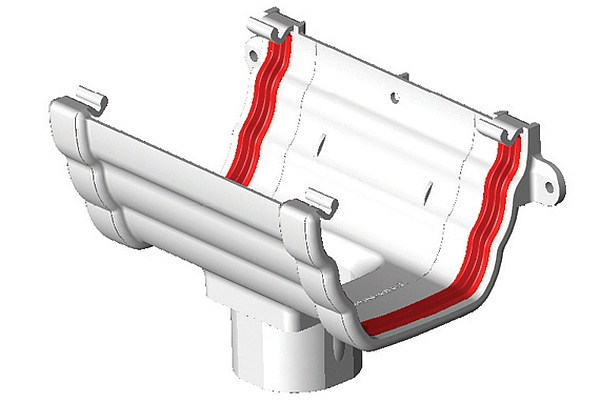 Freeflow Running Outlet For Ogee Profile Gutter Supplied